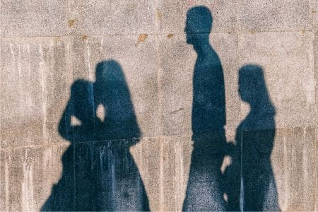 Shadow of Family on Wall